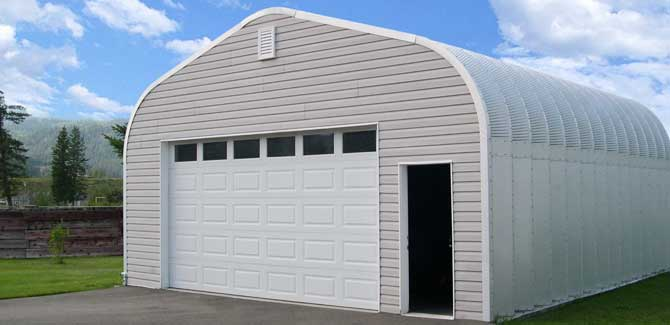 bottom steel rd workshop lg garage wm with custom engineered side garages kit center metal entry